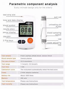 Blood Sugar Tracking Glucometers Blood Glucose Meter For Diabetes Monitoring