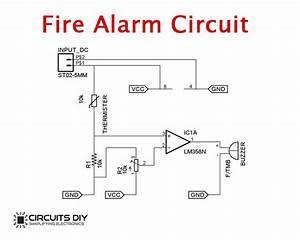 Simple Fire Alarm Circuit Using Thermistor  U0026 Lm358