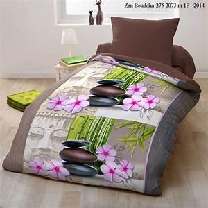 Parure De Lit Zen : sweet home zen bouddha parure de lit imprim brandalley ~ Teatrodelosmanantiales.com Idées de Décoration