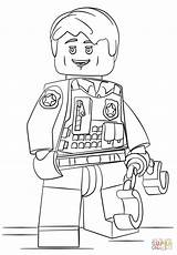 Coloring Police Space sketch template