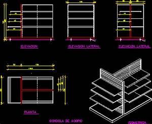 Gondola Display Rack 2D DWG Block for AutoCAD • Designs CAD