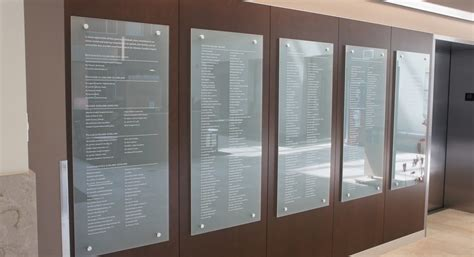 clear acrylic panels donor plaques and donor wall signage impact signs