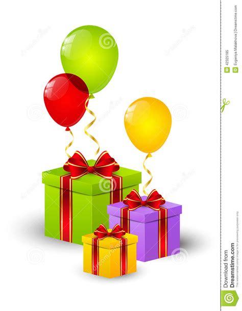 bo 238 te cadeau d anniversaire illustration de vecteur illustration du vecteur pr 233 sent 42325185