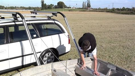 Boat Car Top Carrier by Rhino Rack Side Boat Loader How It Works