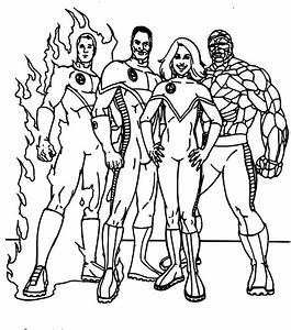 Fantastic Four Coloring Pages To Download And Print For Free