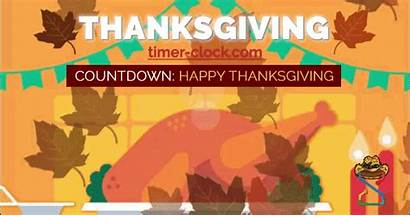Thanksgiving Countdown Days Many Until Clock Timer