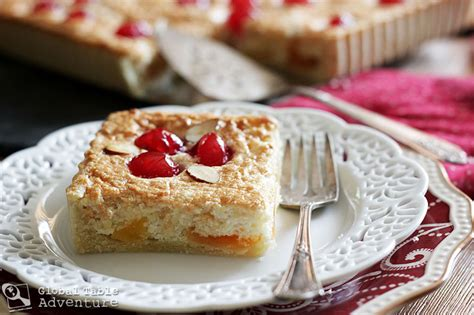 cuisine monegasque candied cantaloupe cherry almond tart galapian
