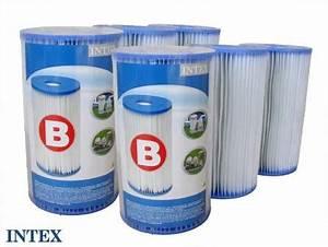 Filtration Piscine Intex : 6 cartouches de filtration pour filtre piscine intex type b ~ Melissatoandfro.com Idées de Décoration