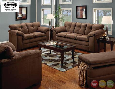 living room with ottoman luna sofa loveseat chair ottoman casual microfiber 4