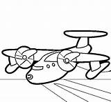Coloring Plane Propellers Coloringcrew Absh Colored Colorear sketch template