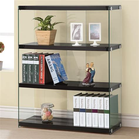 Black Glass Bookcase by Black Wood Bookcase A Sofa Furniture Outlet Los