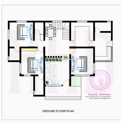 contemporary home designs and floor plans contemporary house with floor plan by bn architects kerala home design and floor plans