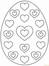 Easter Egg Coloring Pages Hearts Printable Colouring Eggs Heart Pattern Supercoloring Zum Print Ausmalen Patterns Osterei Ausmalbilder Bunny Sheets Ostereier sketch template