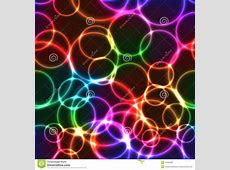 Neon Rainbow Color Bright Bubbles Seamless Background