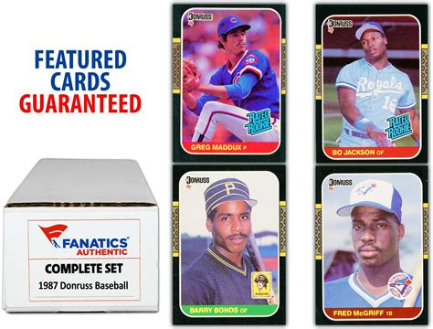 In addition to the base set, 2021 donruss baseball offers top rookies and key prospects. 1987 Donruss Baseball Complete Set of 660 Cards