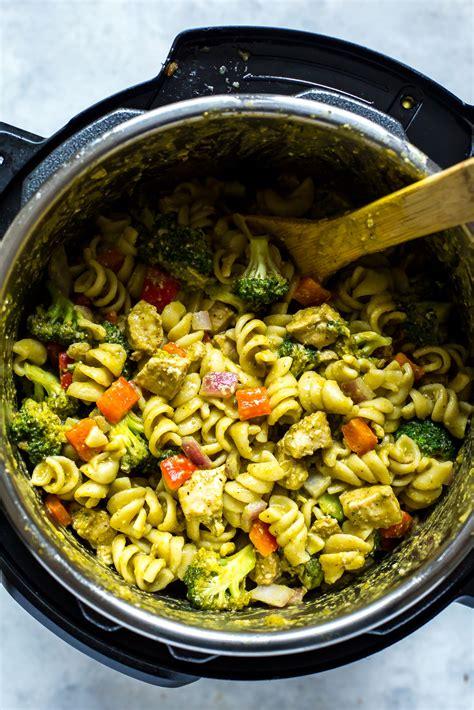 instant pot chicken pesto pasta eating instantly