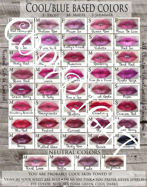 lipstick color chart 1000 ideas about lipsense color chart on best
