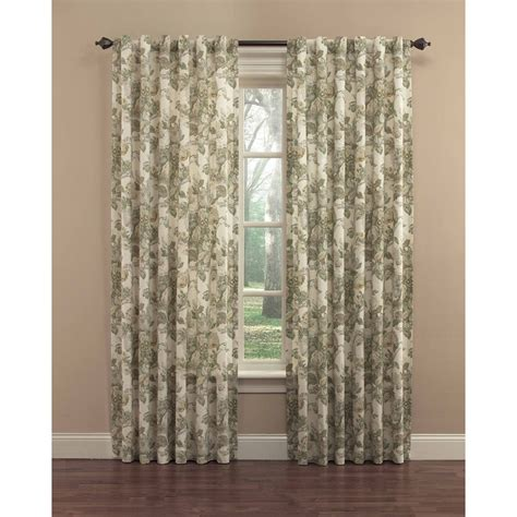Drapes At Lowes - waverly 84 in platinum cotton back tab single curtain