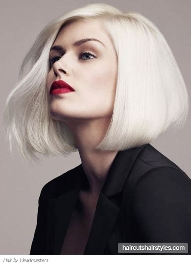 Platinum Hairstyles by Medium Platinum Bob Hair Style