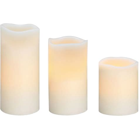 better homes and gardens 3 pack led pillar candles leaves