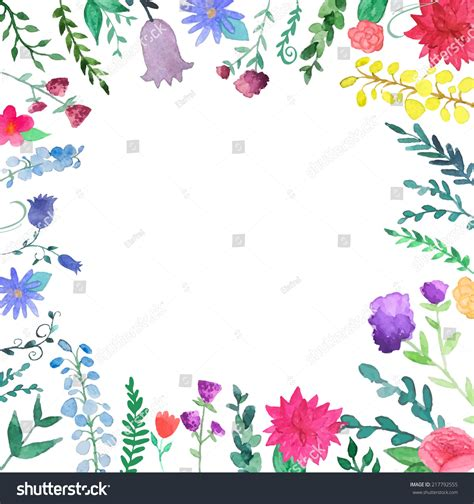 christmas twilight market flyer template free download3 watercolor floral border vintage hand drawn stock vector