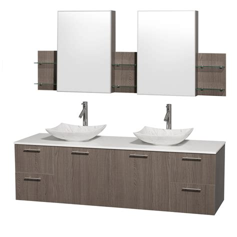 gray double sink vanity wyndham collection wcr410072dgowsgs6med amare 72 inch
