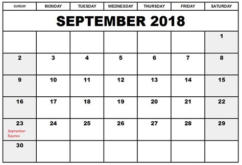 calendar template september free september 2018 calendar printable template us canada uk europe printable templates