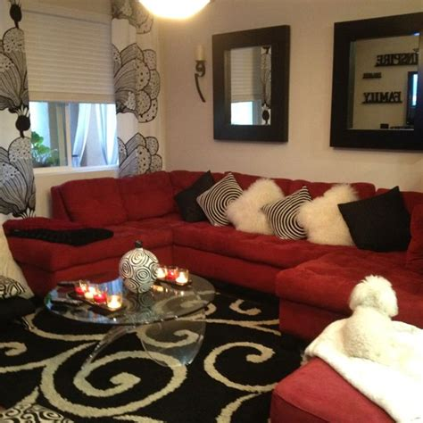 black  white  red    living room favorite
