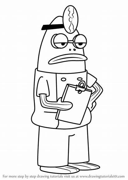 Spongebob Purple Squarepants Draw Drawing Step Doctorfish