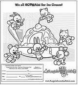 Attic Coloring Pages Angels Scream Ice Cream Adding Help sketch template