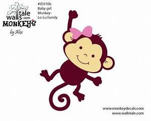 Cartoon drawings of cute monkeys   d310b Baby girl monkey ...