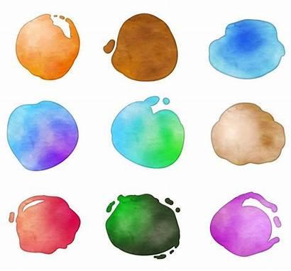 Watercolor Splotches Clipart Circle