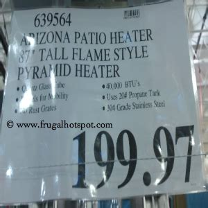 costco clearance arizona quartz patio heater 199 97