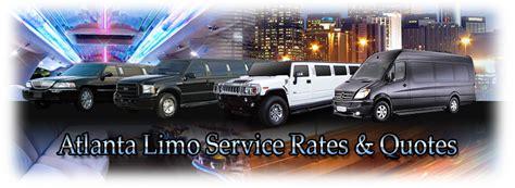 Limo Service Quotes by Atlanta Limo Service Rates Ez Rental Rentals