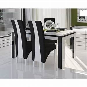 Table a manger blanche pas cher table carree extensible