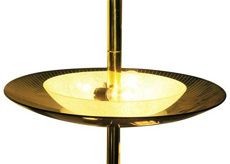 brass light floor to ceiling tension pole l for sale at 1stdibs