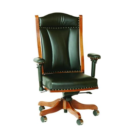 desk chair with adjustable arms amish crafted furniture