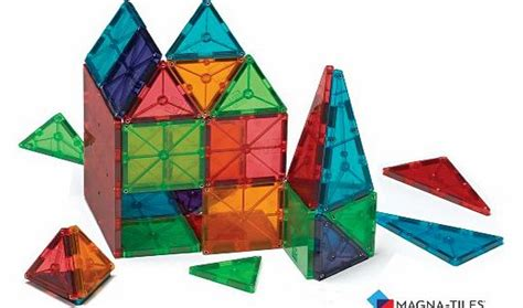 Valtech Magna Tiles Clear Colours 100 Pack by Geomag Sa Building Toys