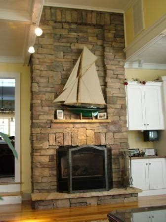 Cultured Stone Fireplace White