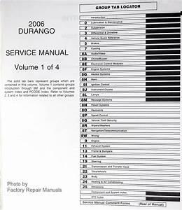 2006 Dodge Durango Factory Service Manuals Original Shop