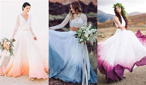 The Dip Dye Wedding Dress Is The Prettiest Wedding Trend