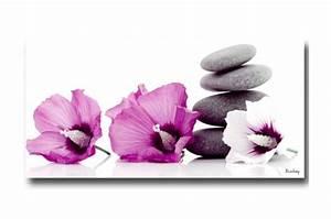 Tableau En Verre Leroy Merlin : tableau zen trois fleurs 40x80 cm tableaux zen floral ~ Dailycaller-alerts.com Idées de Décoration