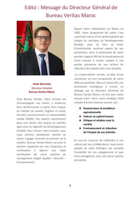 bureau veritas maroc rapport rse de bureau veritas maroc 2015 2016
