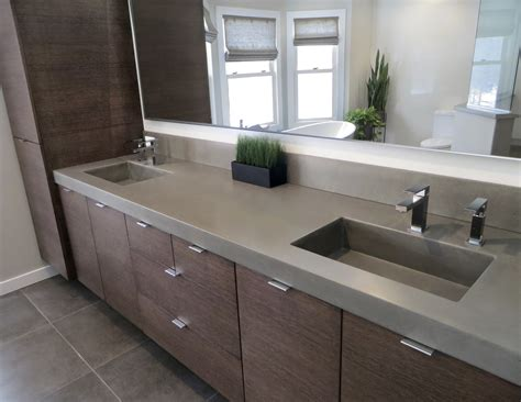 Concrete Bathroom Sink Queen Canopy Bed Design Room Online Walk In Closet Furniture Subway Glass Tile Backsplash How Much Is A Modular Home Outdoor Themed Decor Wall Hangings Gardening Pictures
