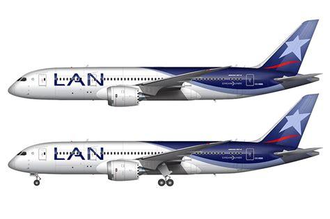 air livery templates illustrator lan airlines boeing 787 8 illustration norebbo