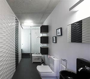 Ultra modern black white bathroom interior design for Black and white modern bathroom