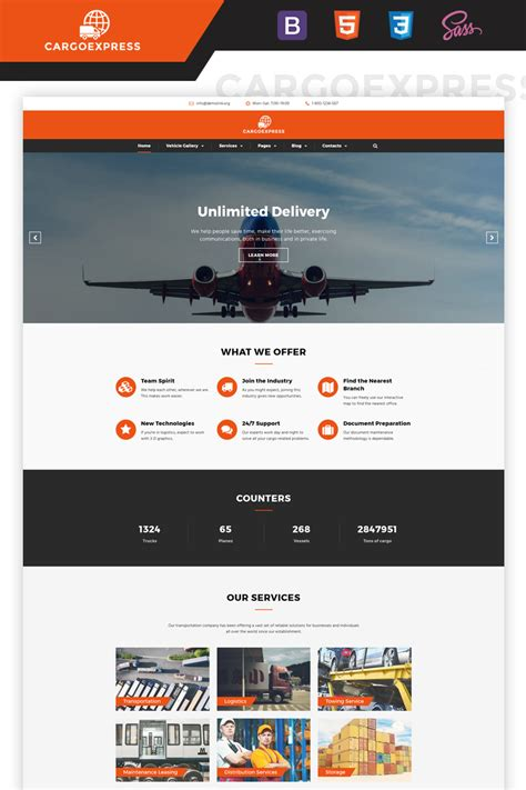 delivery services multipage html template