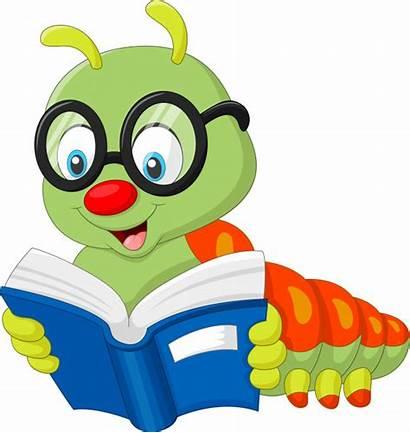 Animados Caterpillar Leyendo Libro Dibujos Premium