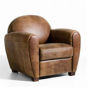 fauteuil cuir veilli barnaby marron cuir vieilli ampm With tapis enfant avec canape club vieilli