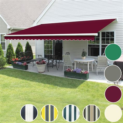 manual awning patio garden sun shade shelter retractable greenbay ebay